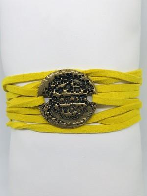 Bracelet Suédine Soldi Jaune